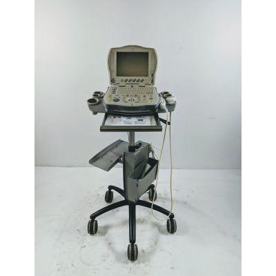 GE Logiq Book XP 2410786 Portable Ultrasound w/ 8L-RS 2376127 Transducer Probe
