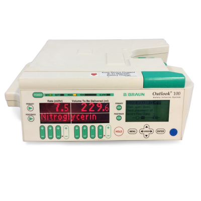 B Braun Outlook 100 Single Channel Infusion Pump