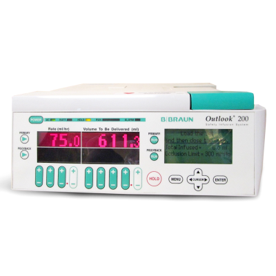 B Braun Outlook 200 Dual Channel Infusion Pump